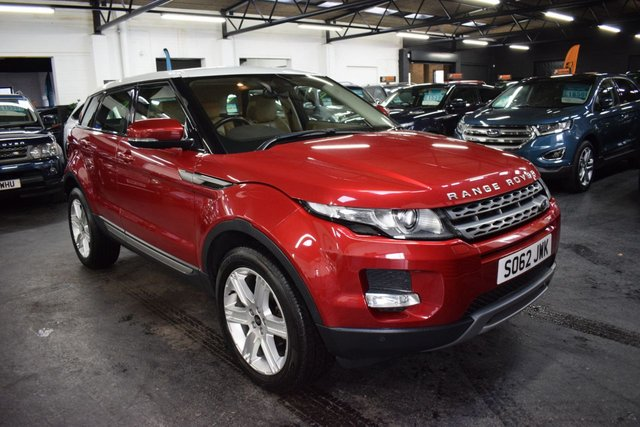 USED 2012 62 LAND ROVER RANGE ROVER EVOQUE 2.2 TD4 PURE TECH 5d 150 BHP 4X4  ONE PREVIOUS KEEPER - LOW MILES - LEATHER - NAV - HEATED MEMORY SEATS - XENON HEADLIGHTS - REAR PDC