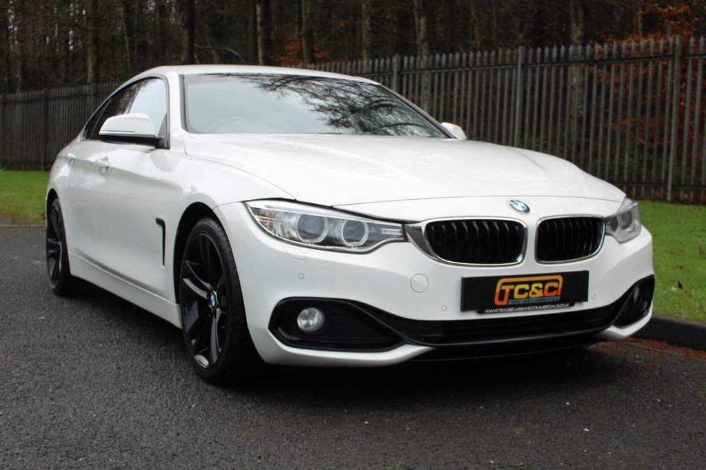 USED 2015 65 BMW 4 SERIES 2.0 420D SPORT GRAN COUPE 4d 188 BHP A GREAT LOOKING 420D WITH BLACK STYLING, XENONS, DAB, SAT NAV AND MORE!!!