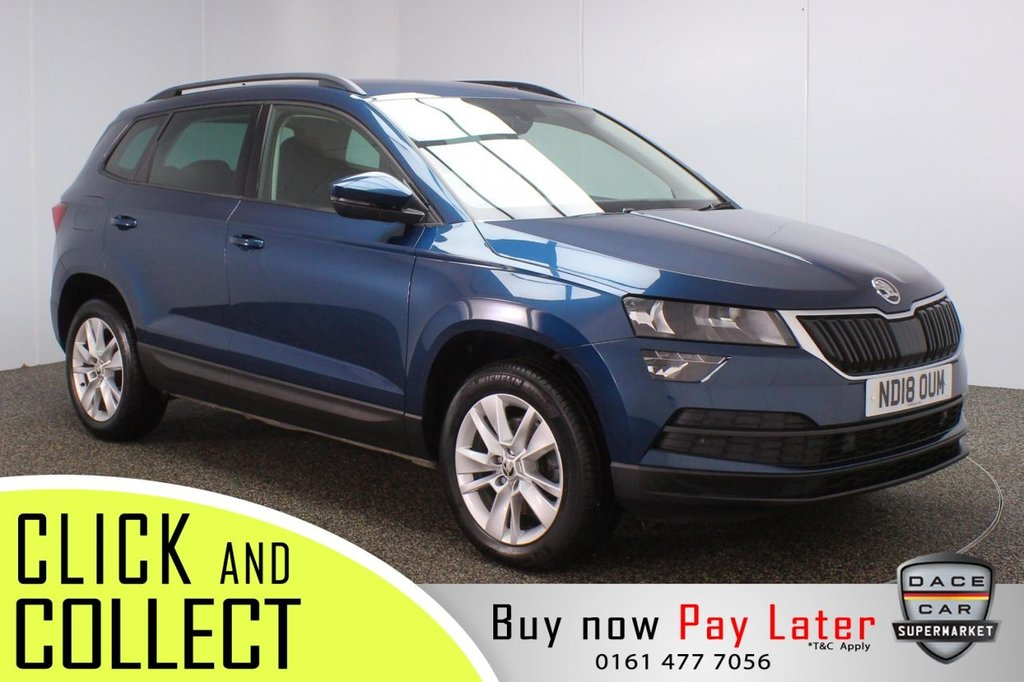 USED 2018 18 SKODA KAROQ 1.6 SE TECHNOLOGY TDI 5DR 114 BHP + 1 OWNER + FULL SERVICE HISTORY FULL SERVICE HISTORY + SATELLITE NAVIGATION + PARKING SENSOR + BLUETOOTH + CRUISE CONTROL + CLIMATE CONTROL + MULTI FUNCTION WHEEL + PRIVACY GLASS + DAB RADIO + USB PORT + ELECTRIC MIRROR + ELECTRIC/HEATED/FOLDING DOOR MIRRORS + 17 INCH ALLOY WHEELS