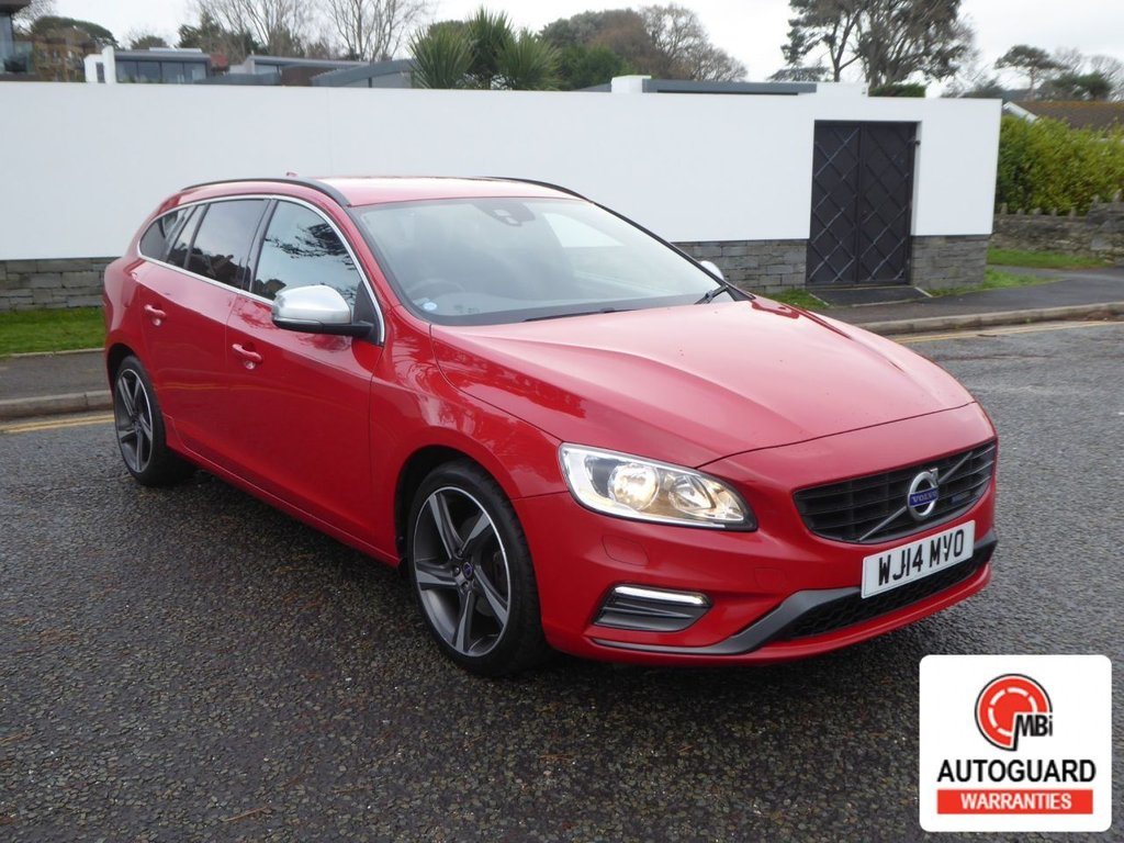 USED 2014 14 VOLVO V60 1.6 D2 R-DESIGN 5d 113 BHP STUNNING R-DESIGN  WITH F.S.H