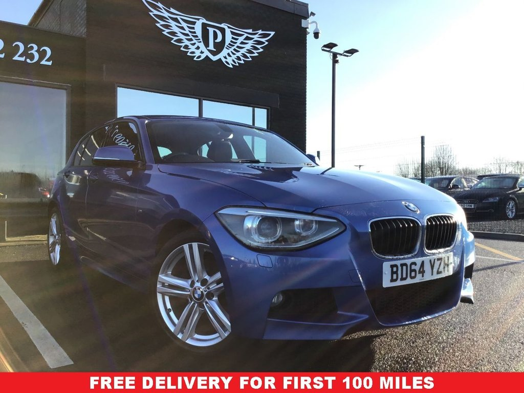 USED 2014 64 BMW 1 SERIES 2.0 120D XDRIVE M SPORT 5d 181 BHP *FULL VALET, MOT, SERVICE AND WARRANTY INC - 7 DAYS MONEY BACK GUARARNTEE - FREE DELIVERY - FINANCE RATES FROM 5.9%*