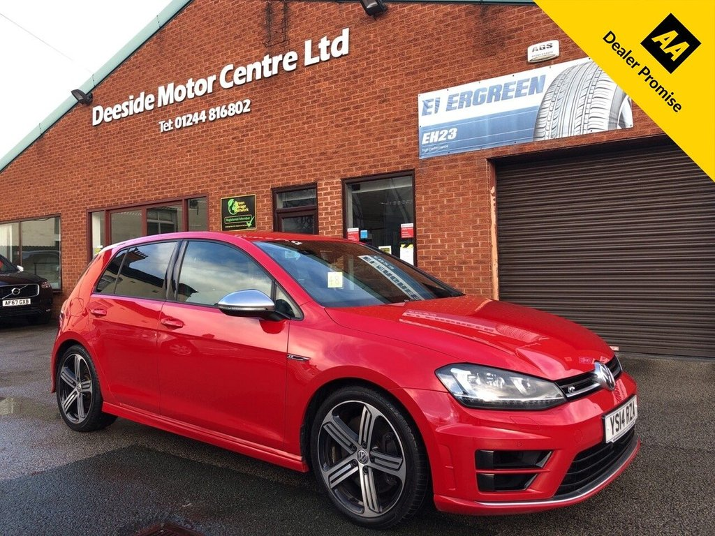 USED 2014 14 VOLKSWAGEN GOLF 2.0 R 5d 298 BHP Bluetooth : DAB Radio : Embossed  R  upholstery : Air-conditioning/Climate control : VW Driving mode selection : Front + rear parking sensors : Rear parcel shelf