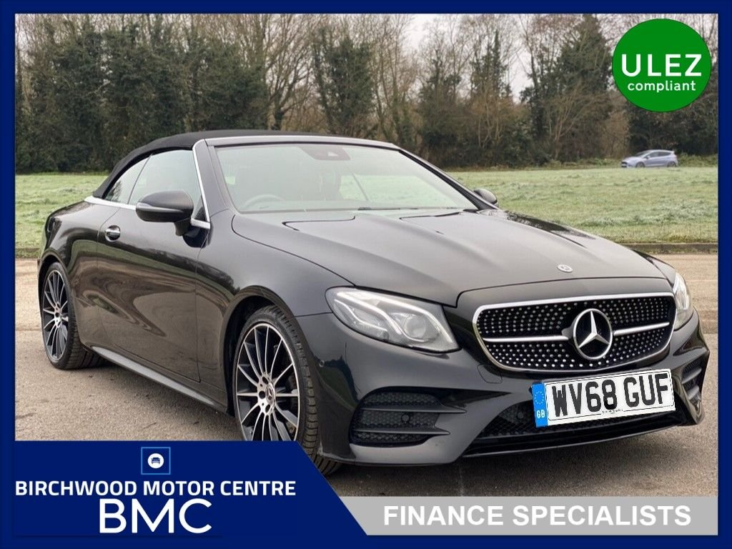 USED 2018 68 MERCEDES-BENZ E-CLASS 2.0 E 220 D AMG LINE PREMIUM PLUS 2d 192 BHP. JUST HAD FULL SERVICE!!!