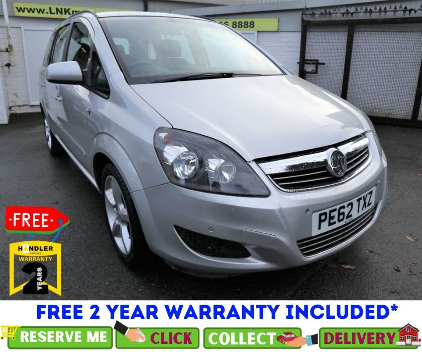 USED 2012 62 VAUXHALL ZAFIRA 1.6 EXCLUSIV 5d 113 BHP *CLICK & COLLECT OR DELIVERY *