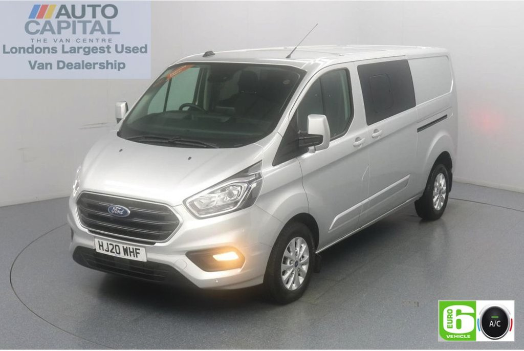 USED 2020 20 FORD TRANSIT CUSTOM 2.0 300 Limited EcoBlue 130 Bhp L2 H1 5 Seats Combi Low Emission 5 Seats | AppLink | Ford SYNC 3 | Apple CarPlay | Eco | Air Con | Start/Stop | F-R Sensors