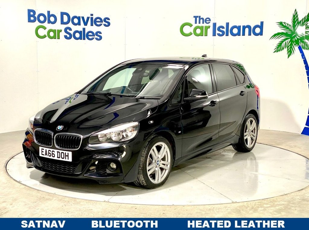 "USED 2016 66 BMW 2 SERIES 2.0 218D M SPORT ACTIVE TOURER 5d 148 BHP SATNAV Bluetooth 18""Alloys only 20000miles Full Leather"