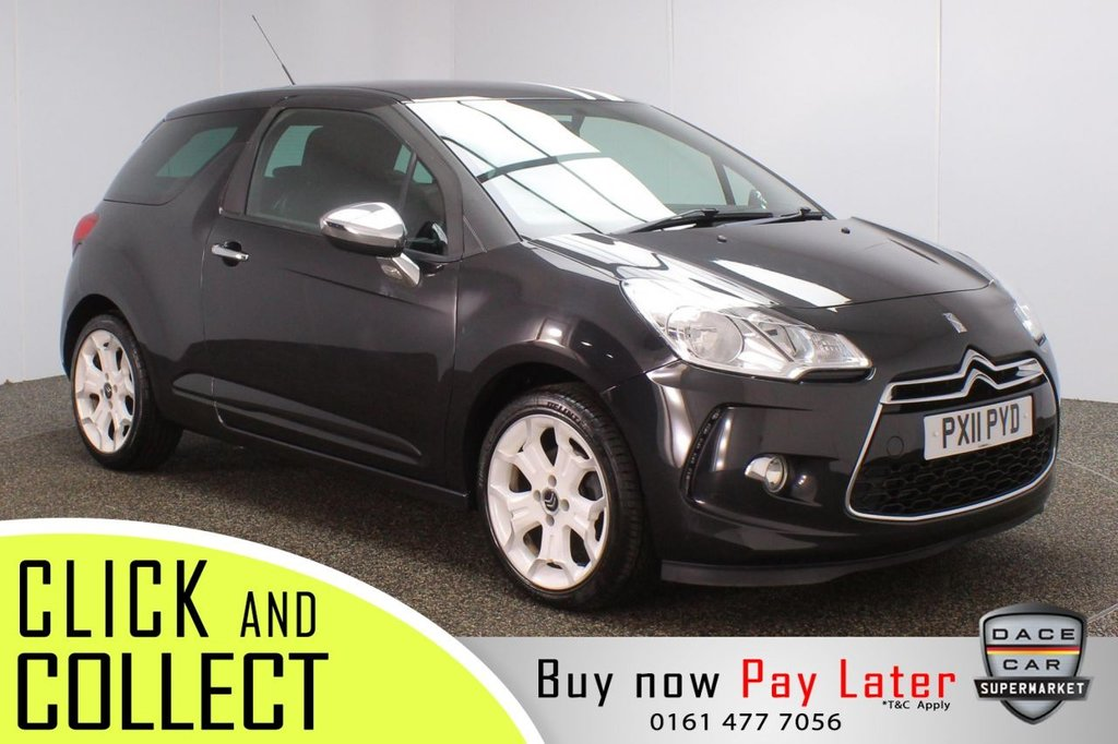 USED 2011 11 CITROEN DS3 1.6 BLACK AND WHITE 3DR 120 BHP SERVICE HISTORY + CRUISE CONTROL + MULTI FUNCTION WHEEL + AIR CONDITIONING + RADIO/CD/MP3 + AUXILIARY PORT + ELECTRIC WINDOWS + ELECTRIC DOOR MIRRORS + 17 INCH ALLOY WHEELS
