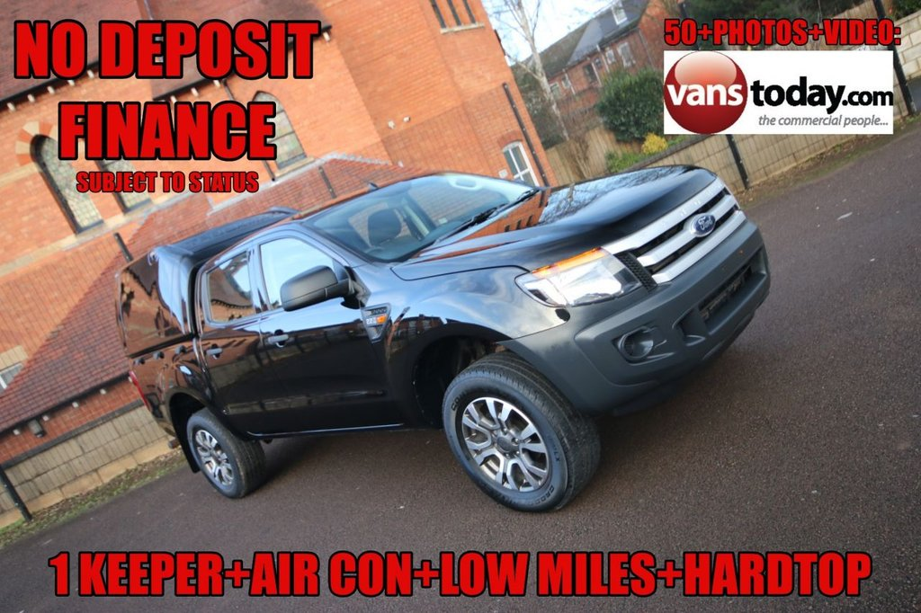 USED 2014 64 FORD RANGER 2.2 TDCI XL Double Cab 4X4 + AIR CON + 1 KEEPER + HARDTOP  NO DEPOSIT FINANCE + 1 KEEPER + AIR CON + HARDTOP