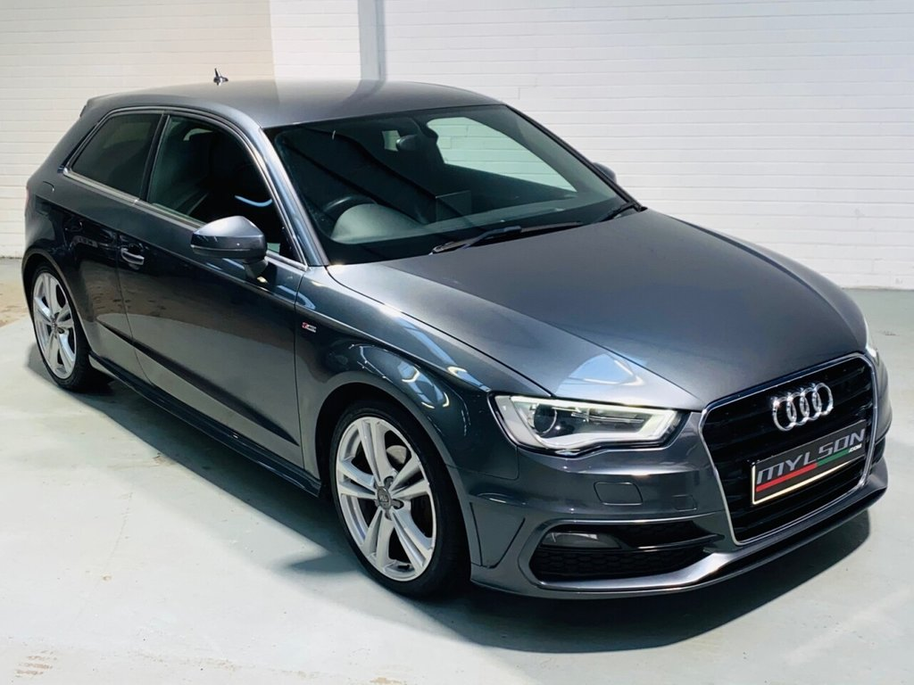 USED 2013 63 AUDI A3 2.0 TDI S LINE 3d 148 BHP S Line Spec, £20 Road Tax, Cruise Control, Bluetooth Media, Xenons, 18in Wheels