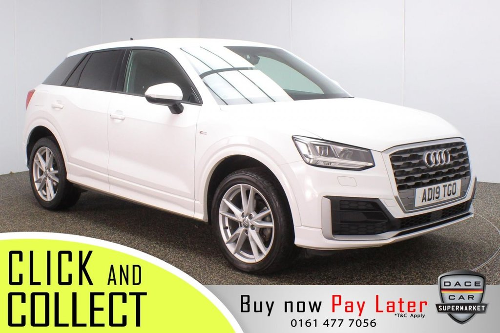 USED 2019 19 AUDI Q2 1.6 TDI S LINE 5DR 1 OWNER 114 BHP  HALF LEATHER SEATS + SATELLITE NAVIGATION + PARKING SENSOR + BLUETOOTH + CRUISE CONTROL + AIR CONDITIONING + MULTI FUNCTION WHEEL + XENON HEADLIGHTS + DAB RADIO + AUX/USB.SD PORTS + ELECTRIC WINDOWS + ELECTRIC/HEATED DOOR MIRRORS + 18 INCH ALLOY WHEELS
