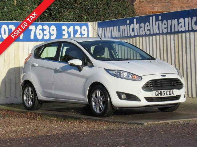 USED 2015 15 FORD FIESTA 1.5 ZETEC TDCI 5d 74 BHP VERY CLEAN THROUGHOUT