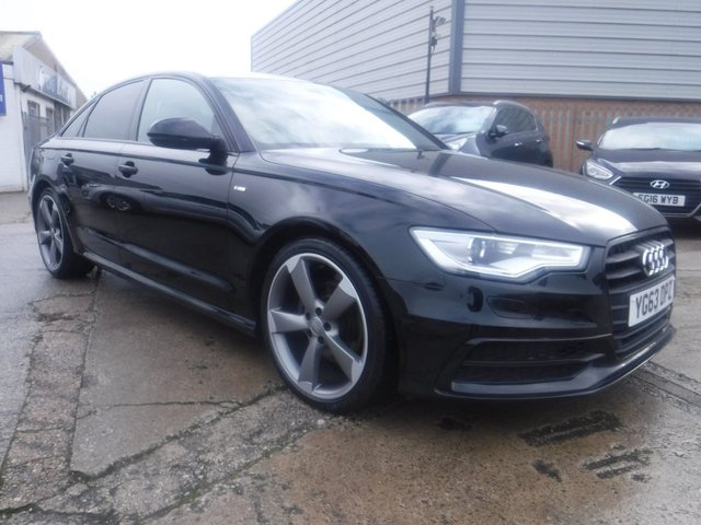 USED 2013 63 AUDI A6 2.0 TDI BLACK EDITION 4d 175 BHP FINANCE ARRANGED**PART EXCHANGE WELCOME**BOSE SOUND*SAT NAV*FULL LEATHER*BLUETOOTH*DAB*PARKING SENSORS