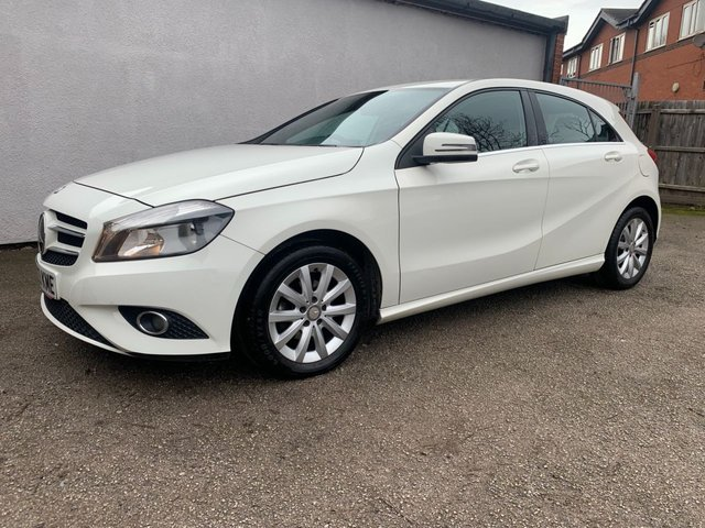 USED 2013 63 MERCEDES-BENZ A-CLASS 1.8 A180 CDI BLUEEFFICIENCY SE 5d 109 BHP REVERSE CAMERA, £20 A YEAR TAX, HEATED 1/2 LEATHER BLUETOOTH