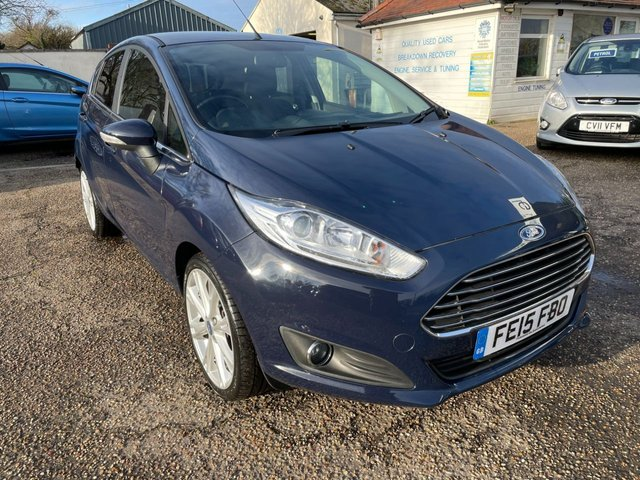 USED 2015 15 FORD FIESTA 1.5 TITANIUM TDCI 5d 74 BHP FULL SERVICE HISTORY /  ONE OWNER CAR