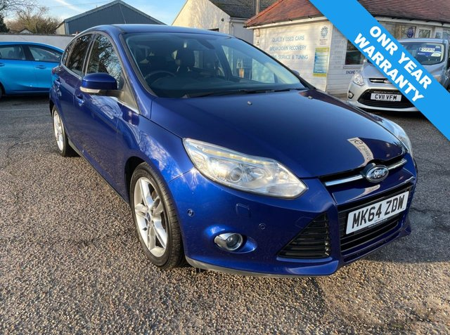 USED 2014 64 FORD FOCUS 2.0 TITANIUM X TDCI 5d 161 BHP ONE YEAR WARRANTY INCLUDED / POWERSHIFT / FULL SERVICE HISTORY / SAT NAV / REVERSE CAMERA / AUTO PARK / TOP SPEC