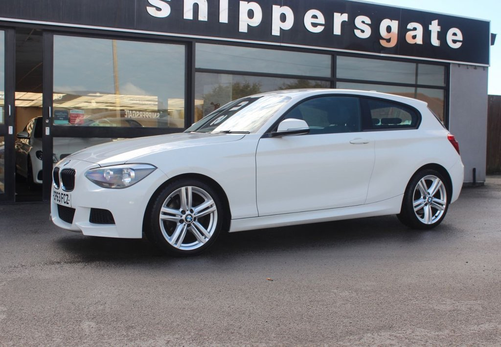 USED 2013 63 BMW 1 SERIES 2.0 120D M SPORT 3d 181 BHP Alpine White BMW 120D M Sport, Bluetooth Hands Free System With USB Interface, BMW Professional Radio, Control Infotainment, M Sports Package, Sports Seats, Retractable Front Armrest, M Leather Steering Wheel, M Aerodynamics Package, Anthracite Headlining, Rain Sensor, DAB Tuner, Full Service History.