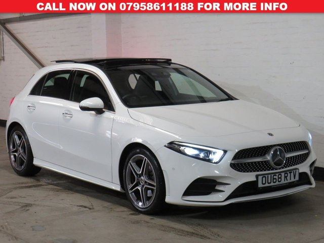 USED 2018 68 MERCEDES-BENZ A-CLASS 1.3 A 200 AMG LINE PREMIUM PLUS 5d 161 BHP