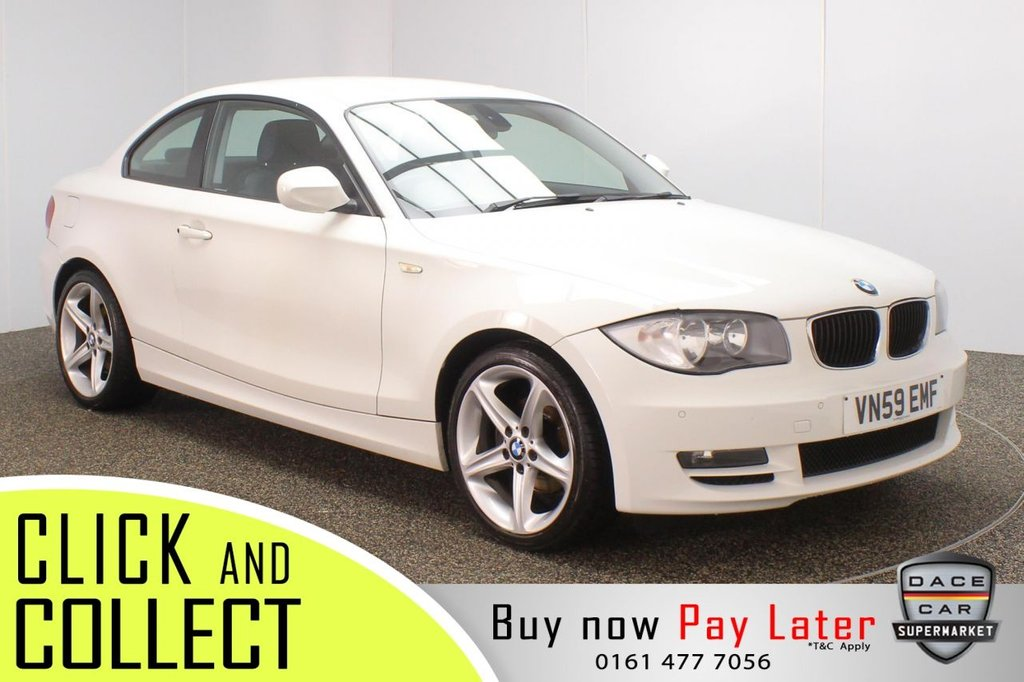 USED 2009 59 BMW 1 SERIES 2.0 118D SPORT 2DR 141 BHP SERVICE HISTORY + £30 12 MONTHS ROAD TAX + PARKING SENSOR + MULTI FUNCTION WHEEL + AIR CONDITIONING + AUXILIARY PORT + ELECTRIC WINDOWS + ELECTRIC DOOR MIRRORS + 18 INCH ALLOY WHEELS