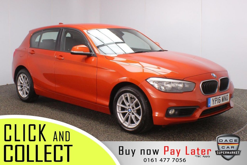 USED 2016 16 BMW 1 SERIES 2.0 118D SE 5DR 1 OWNER 147 BHP + FULL SERVICE HISTORY + SAT NAV FULL SERVICE HISTORY + £20 12 MONTHS ROAD TAX + SATELLITE NAVIGATION + BLUETOOTH + MULTI FUNCTION WHEEL + AIR CONDITIONING + DAB RADIO + ELECTRIC WINDOWS + ELECTRIC MIRRORS + 16 INCH ALLOY WHEELS