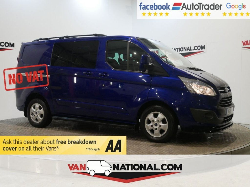 USED 2016 16 FORD TRANSIT CUSTOM 2.2 290 LIMITED LR DCB 125 BHP DOUBLE CAB LIMITED *NO VAT NO VAT NO VAT* * ONE OWNER * NO VAT * 6 SEATS * AIR CON * ZERO DEPOSIT FINANCE AVAILABLE *
