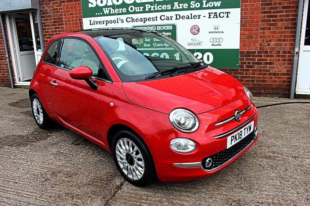 USED 2018 18 FIAT 500 1.2 LOUNGE 3d 69 BHP +BLUETOOTH DAB +PANORAMIC ROOF
