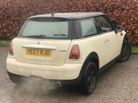 USED 2007 57 MINI HATCH COOPER 1.6 COOPER 3d 118 BHP *MOT TO DECEMBER 2021*