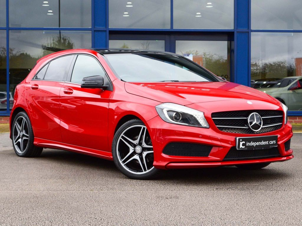 USED 2014 64 MERCEDES-BENZ A-CLASS 1.5 A180 CDI BLUEEFFICIENCY AMG SPORT 5d PAN ROOF*NIGHT PACK*AUTO*FSH