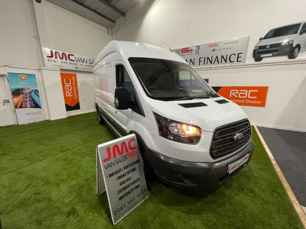 USED 2018 67 FORD TRANSIT 2.0 350 L3H3 130BHP 1 OWNER FROM NEW FULL SERVICE HISTORY  1 OWNER FROM NEW FULL SERVICE HISTORY LWB HI ROOF