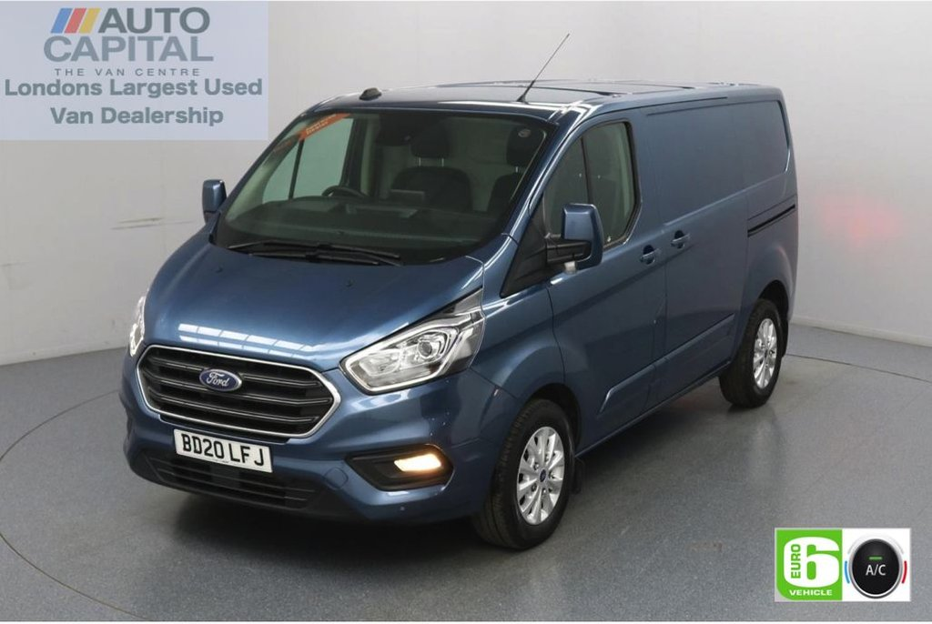 USED 2020 20 FORD TRANSIT CUSTOM 2.0 300 Limited EcoBlue 130 BHP L1 H1 Euro 6 Low Emission Apple CarPlay   AppLink   Voice Control    Auto Start-Stop   Front and rear parking distance sensors