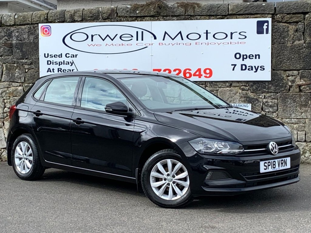 USED 2018 18 VOLKSWAGEN POLO 1.0 SE TSI 5d 94 BHP FULL VOLKSWAGEN SERVICE HISTORY+CRUISE CONTROL+1 OWNER FROM NEW+FINANCE AVAILABLE+LOW MILEAGE