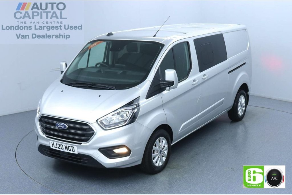 USED 2020 20 FORD TRANSIT CUSTOM 2.0 300 Limited EcoBlue 130 Bhp L2 H1 5 Seats Combi Low Emission 5 Seats | Eco Mode | Auto Start-Stop | Front and rear Parking distance sensors