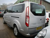 USED 2018 68 FORD TOURNEO CUSTOM 2.0 Tdci 310 L2 H1 TITANIUM 9 Seat minibus 130 BHP 2018 68 Tourneo Titanium 9, SEAT MINIBUS in silver very smart vehicle Ford Warranty Applies until 2021