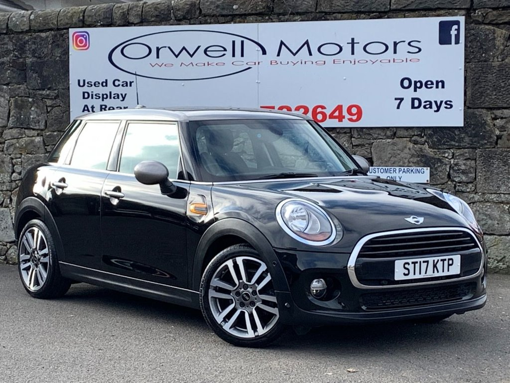 USED 2017 17 MINI HATCH COOPER 1.5 COOPER SEVEN 5d 134 BHP FULL MINI SERVICE HISTORY+1 OWNER+AUTOMATIC+17 INCH ALLOY WHEELS+HALF LEATHER INTERIOR+BLUETOOTH+FINANCE AVAILABLE