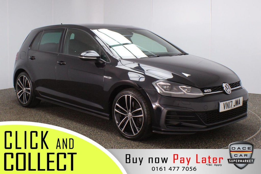 USED 2017 17 VOLKSWAGEN GOLF 2.0 GTD TDI 5DR 1 OWNER 182 BHP + VIRTUAL COCKPIT + FULL SERVICE HISTORY FULL SERVICE HISTORY + VIRTUAL COCKPIT + SATELLITE NAVIGATION + PARKING SENSOR + HEATED FRONT SEATS + BLUETOOTH + CRUISE CONTROL + CLIMATE CONTROL + MULTI FUNCTION WHEEL + PRIVACY GLASS + DAB RADIO + AUX/USB PORTS + ELECTRIC WINDOWS + ELECTRIC/HEATED/FOLDING DOOR MIRRORS + 18 INCH ALLOY WHEELS