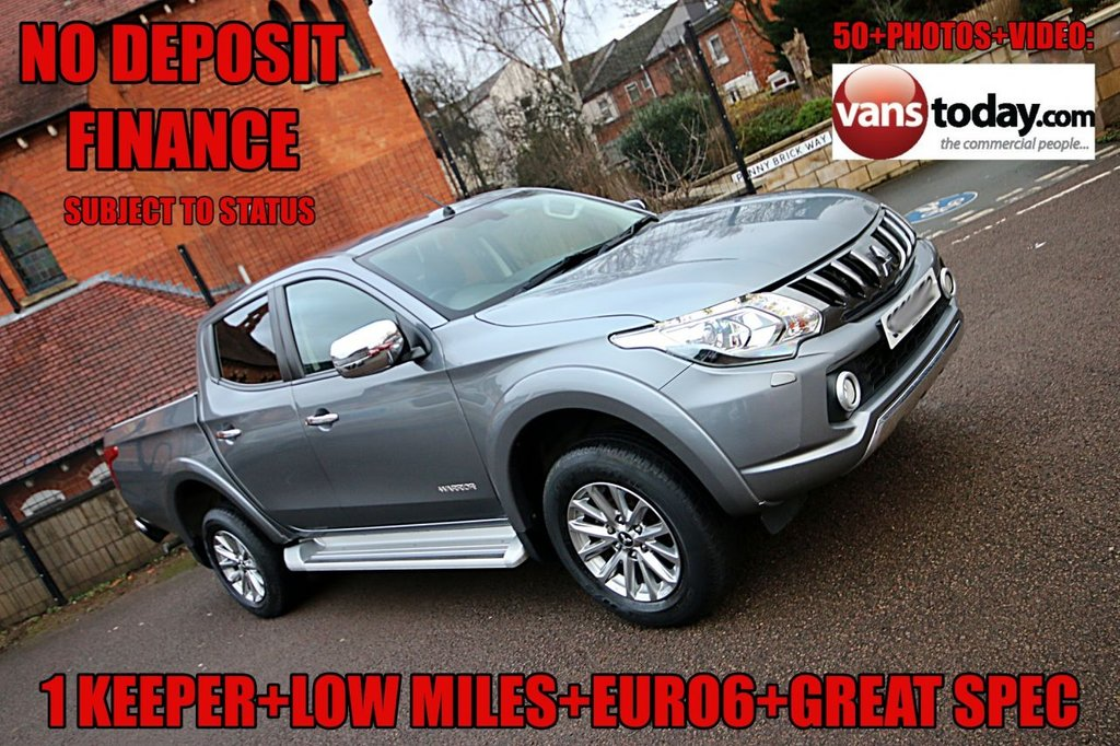 USED 2016 66 MITSUBISHI L200 2.4 DI-D 4WD WARRIOR DCB 178 BHP + EURO 6 + LOW MILES  NO DEPOSIT FINANCE + 1 KEEPER + LOW MILES + MITSUBISHI WARRANTY