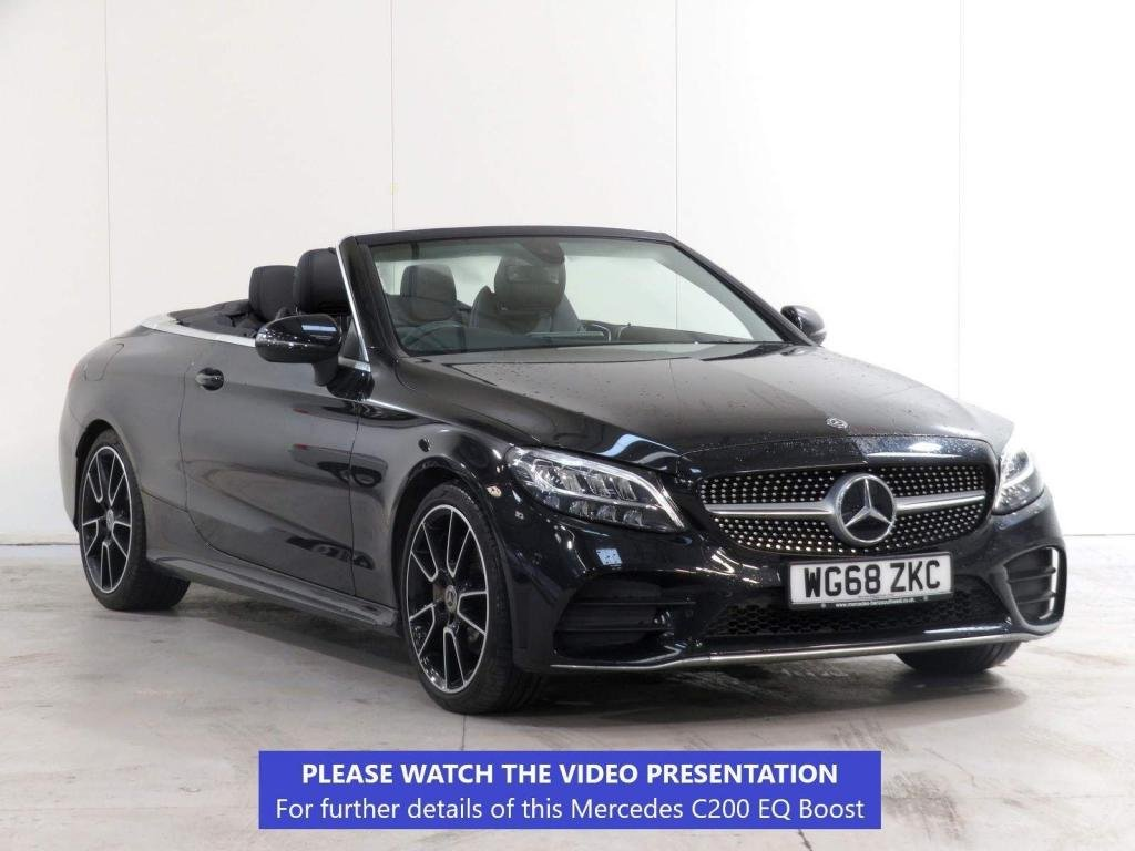 USED 2018 68 MERCEDES-BENZ C-CLASS 1.5 C200 EQ Boost AMG Line Cabriolet G-Tronic+ (s/s) 2dr 19' ALLOY*MERC WARRANTY* VAT Q