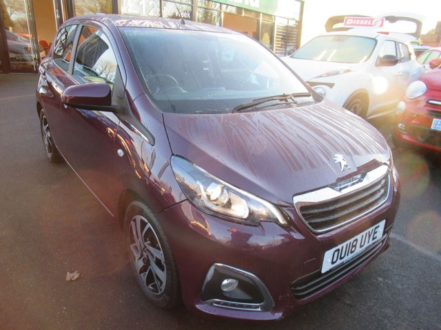 USED 2018 18 PEUGEOT 108 1.2 PURETECH ALLURE 5d 82 BHP **BUY NOW PAY NEXT YEAR**