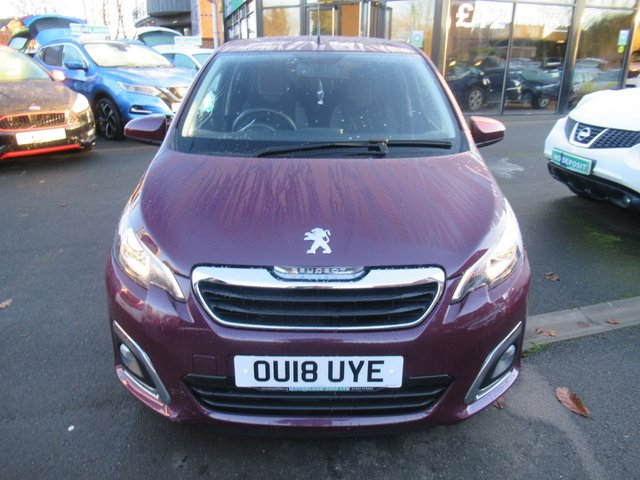 USED 2018 18 PEUGEOT 108 1.2 PURETECH ALLURE 5d 82 BHP TEST DRIVE TODAY 01543 379066
