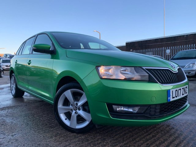 USED 2017 17 SKODA RAPID SPACEBACK 1.0 SE TECH TSI DSG 5d 94 BHP 2 KEYS+1 OWNER FROM NEW+ALLOYS+NAVIGATION WITH SD CARD+CLIMATE+DAB+PARKING SENSORS+MEDIA+BLUETOOTH+USB+AUX+