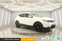 USED 2015 15 NISSAN QASHQAI 1.6 DCI TEKNA 5d 128 BHP RARE 4 X 4, SAT/NAV, LEATHER, DAB, BLUETOOTH, REVERSE CAMERA, FRESHLY POWDER COATED GLOSS BLACK ALLOYS,  7 SERVICES