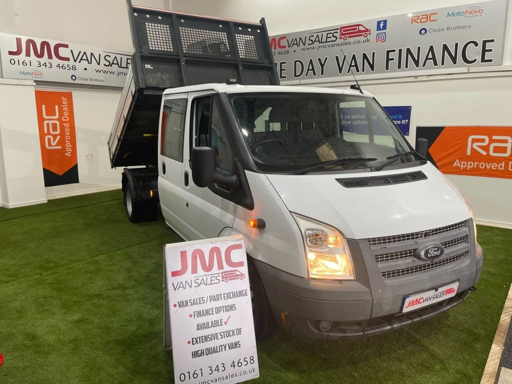 USED 2014 64 FORD TRANSIT 2.2 350 DRW 125BHP DOUBLE CAB TIPPER 6 MONTHS RAC WARRANTY CHOICE OF 3  CHOICE IN STOCK 6 MONTHS RAC PLATINUM WARRANTY
