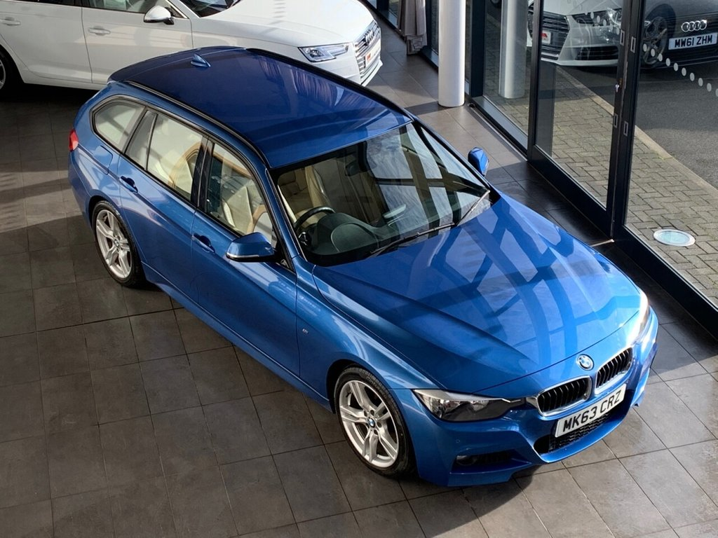 USED 2013 63 BMW 3 SERIES 2013/63 + 3.0 330D M SPORT TOURING 5d 255 BHP + AUTOMATIC + LEATHER + SAT NAV + PDC
