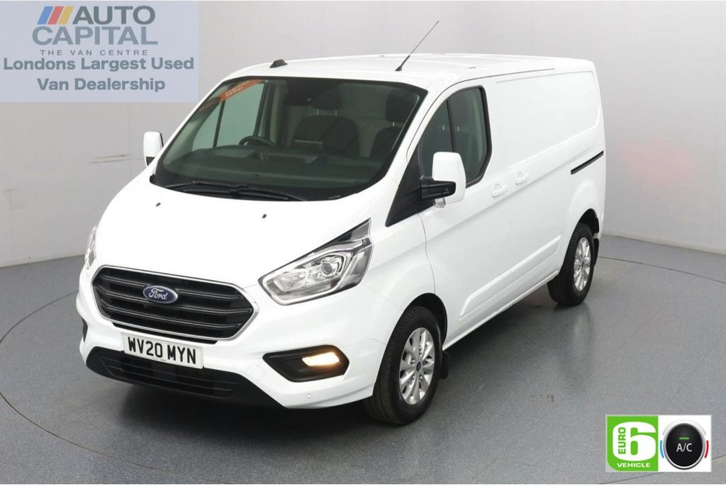 USED 2020 20 FORD TRANSIT CUSTOM 2.0 300 Limited EcoBlue 130 BHP L1 H1 Euro 6 Low Emission AppLink | Ford SYNC 3 | Apple CarPlay | Eco | Air Con | Start/Stop | F-R Sensors