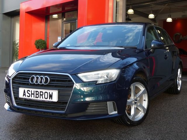 USED 2018 18 AUDI A3 SPORTBACK 1.0 TFSI SPORT 5d AUTO 115 S/S SAT NAV, AUDI SMART PHONE INTERFACE FOR APPLE CAR PAY / ANDROID AUTO, REAR PARKING SENSORS, AUTO HILL HOLD, BI-XENON HEADLIGHTS WITH LED DAYTIME RUNNING LIGHTS & HEADLAMP WASHERS, CRUISE CONTROL, DAB RADIO, BLUETOOTH PHONE & AUDIO STREAMING, USB PORTS x2, AUX INPUT, WIFI / WLAN PLAYER, SD CARD READER x2, SIM CARD READER, S TRONIC AUTOMATIC, DUAL CLIMATE AIR CONDITIONING, LEATHER TIPTRONIC MULTI FUNCTION STEERING WHEEL (PADDLE SHIFT), AUTO LIGHTS & WIPERS, DRIVE SELECT, BALANCE OF AUDI WARRANTY