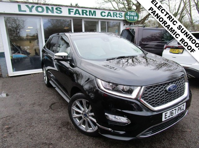 USED 2017 67 FORD EDGE 2.0 VIGNALE TDCI POWERSHIFT AWD 5d 207 BHP AUTOMATIC ALL WHEEL DRIVE *PANO ROOF + ELECTRIC SUNROOF* Full Service History (Main Dealer + ourselves), One Owner, NEW MOT, Automatic, All Wheel Drive