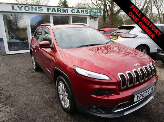 USED 2017 67 JEEP CHEROKEE 2.2 MULTIJET II LIMITED 4WD 5d 197 BHP AUTOMATIC FOUR WHEEL DRIVE *VAT QUALIFYING* Full Service History, One Owner, MOT until November 2021, Automatic, Four Wheel Drive, Diesel