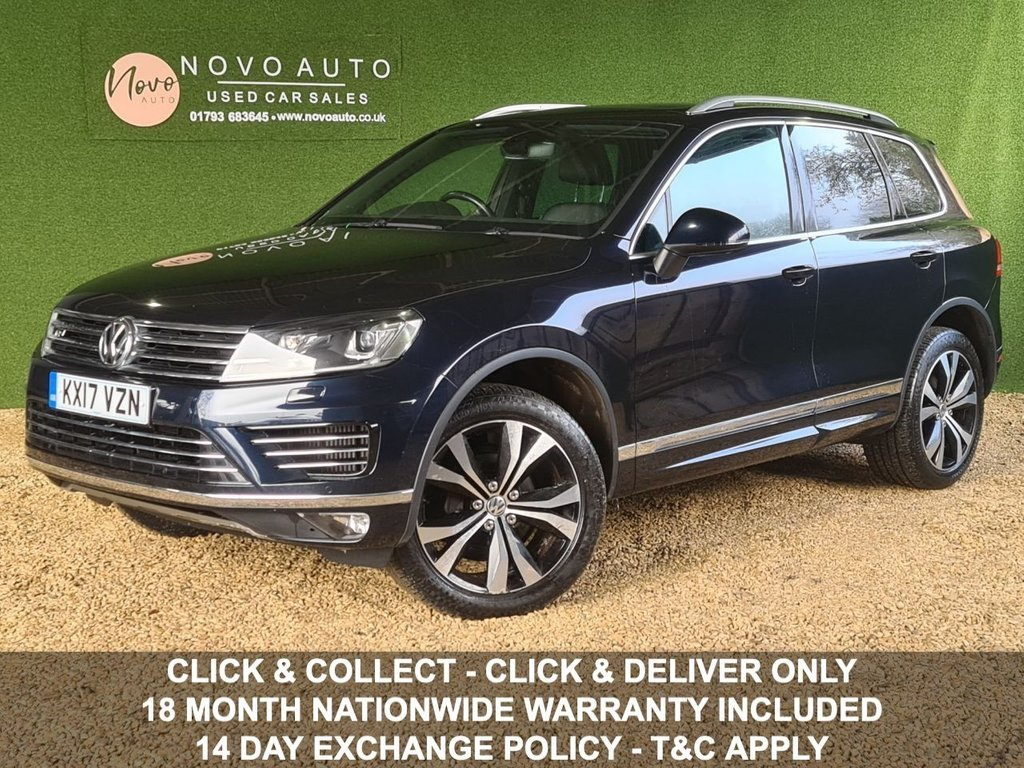 USED 2017 17 VOLKSWAGEN TOUAREG 3.0 V6 R-LINE TDI BLUEMOTION TECHNOLOGY 5d 202 BHP