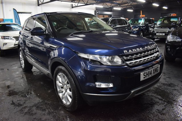 USED 2014 14 LAND ROVER RANGE ROVER EVOQUE 2.2 SD4 PURE TECH 5d 190 BHP 4X4 AUTO LOVELY CONDITION - LOIRE BLUE - 190BHP - 4X4 - AUTO - LANDROVER S/H - LEATHER - NAV - HEATED SEATS - GLASS PANORAMIC ROOF