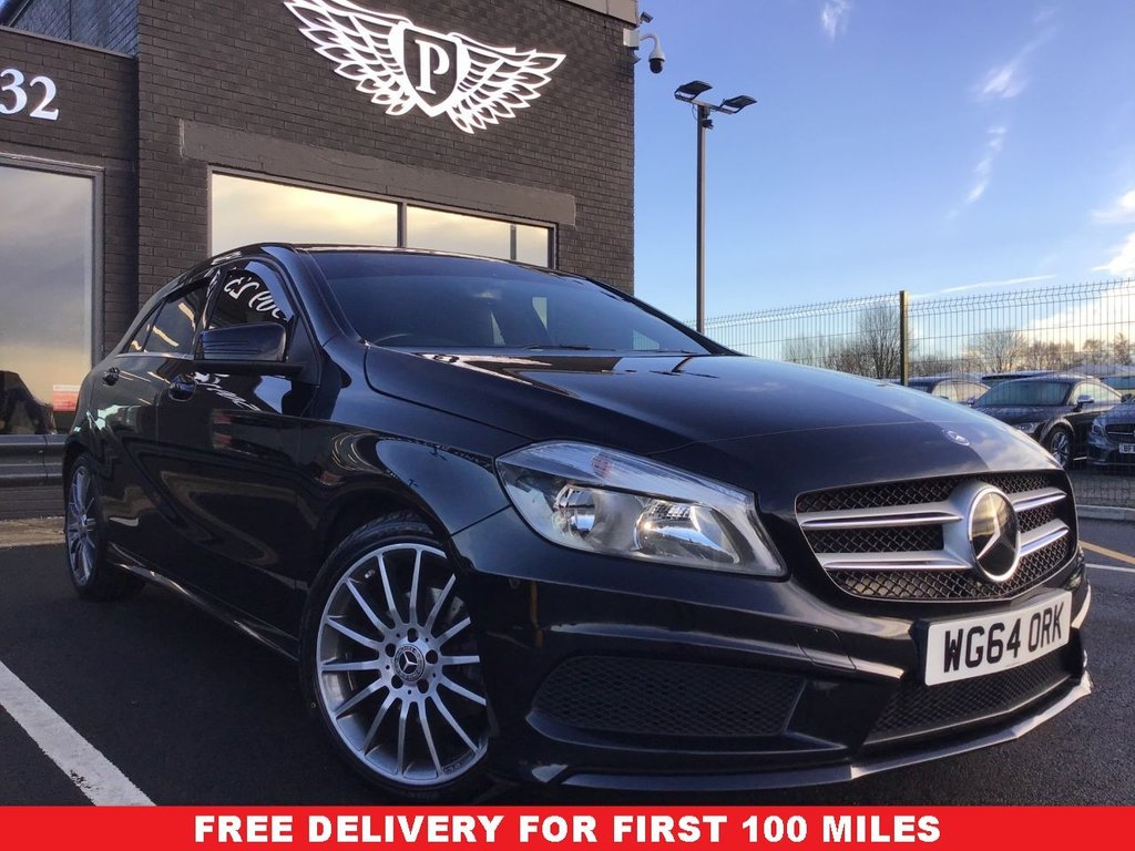 USED 2014 64 MERCEDES-BENZ A-CLASS 1.5 A180 CDI BLUEEFFICIENCY AMG SPORT 5d 109 BHP FULL VALET, MOT, SERVICE AND WARRANTY INC - 7 DAYS MONEY BACK GUARANTEE - FREE DELIVERY - FINANCE RATES FROM 5.9%*