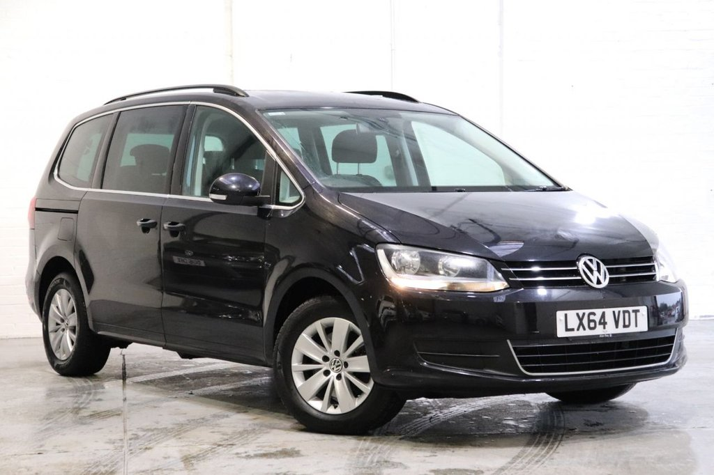 USED 2014 64 VOLKSWAGEN SHARAN 2.0 SE TDI DSG 5d 142 BHP 1 Owner + Satnav + Cruise + Camera